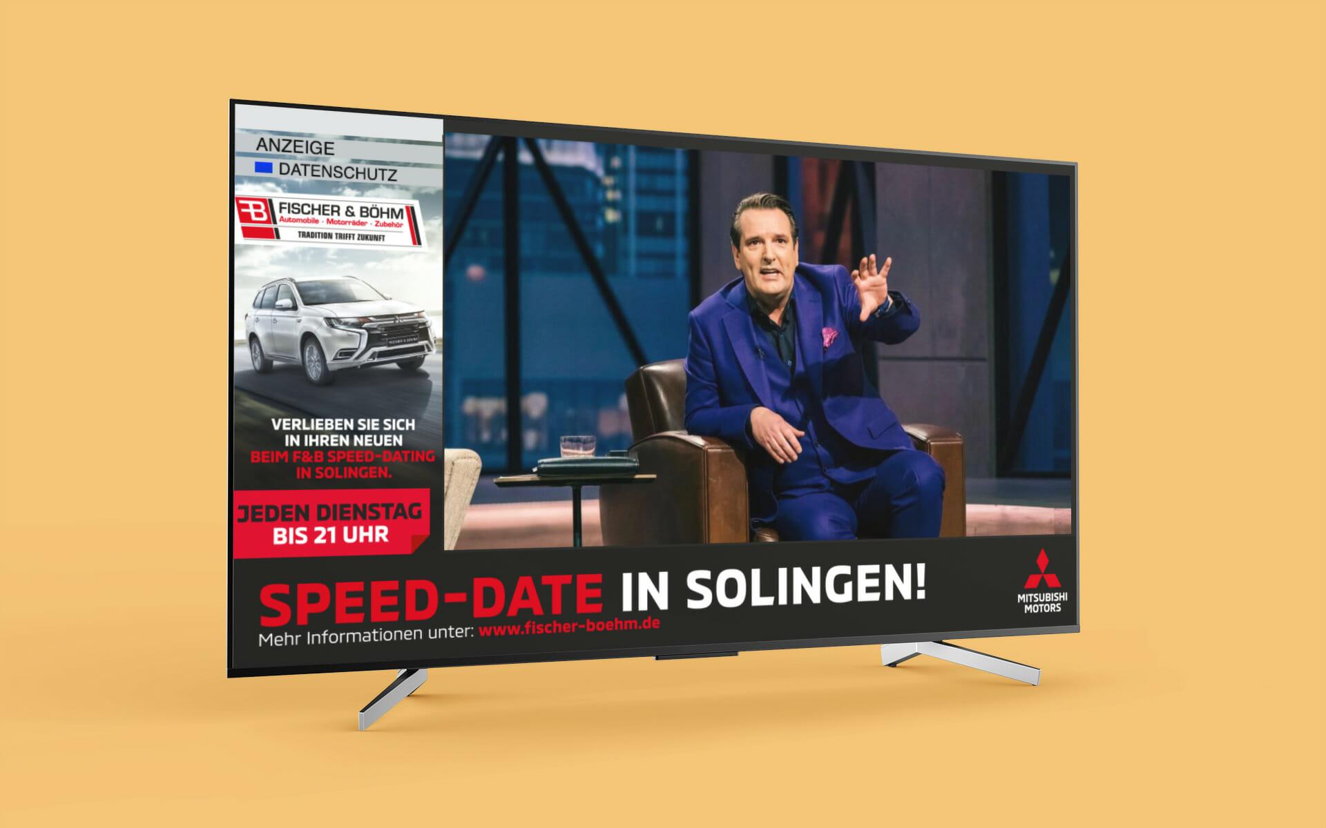Beispiel digitale TV-Werbung